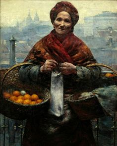 ART BLOG: Aleksander Gierymski : Jewess with Oranges