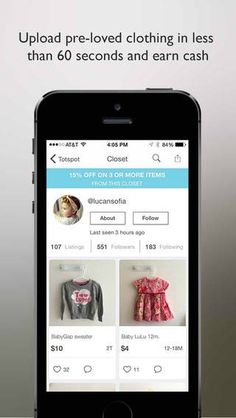 Free app to buy or sell used kids clothes- Totspot- easy to use- save money or earn money or both!