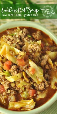 This Paleo Keto Cabbage Roll Soup is hearty and comforting, with all the classic flavors of a cabbage roll. This Paleo Keto Cabbage Roll Soup is hearty and comforting, with all the classic flavors of a cabbage roll. Keto Foods, Ketogenic Recipes, Paleo Recipes, Real Food Recipes, Cooking Recipes, Paleo Diet, Paleo Food, Cooking Tips, Dessert Recipes