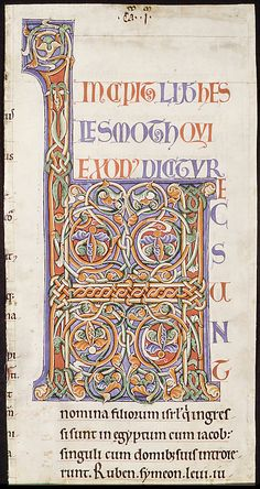 Manuscript Illumination with Initial H, from a Bible | French | The Metropolitan…