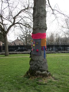 Knit graffiti in Roosendaal, the Netherlands