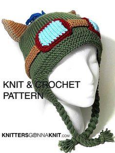 Teemo chapeau tricot & Crochet Pattern - téléchargement immédiat pdf numérique