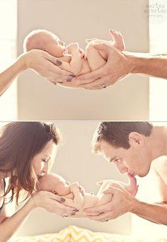 sweet family photo with newborn