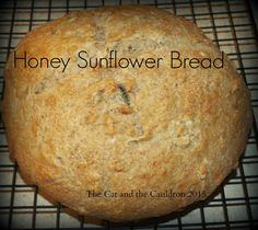 The Cat and the Cauldron: Pinterest Project #122 Honey Sunflower Bread