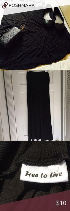 Free to Live Maxi Skirt NWOT black Free to Live maxi skirt. Dresses Maxi