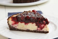Blueberries and Cranberries make up the topping for this Amethyst cheesecake. With a chocolate graham crust, this creamy cheesecake recipe is sure to please