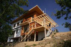 naturesystems: Rýnovice (Pasivní rodinný dům izolován 2vrstvami slaměných balíků) - dřevostavba two-by-four izolovaná slámou a foukanou celuzózou