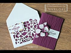 How to make an envelope + Detailed Floral Thinlits Dies ( part 1 of 2) - YouTube