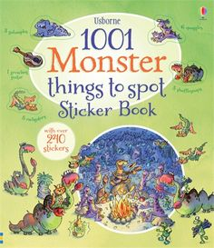 1001 Monster Things to Spot Sticker Book What do monsters get up to when nobody's looking? #monster #sticker #halloween #activity #book #Usborne #children #spooky #scary