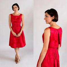 Red Bridesmaid Dress / Vintage Red Party by BelovedVintageBridal