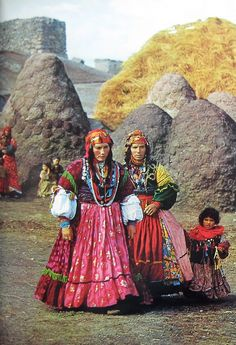 Kurdish women in a northwestern Azerbaijani village; photograph by Roger Wood, 1969.
