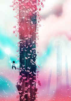 #digital #illustration #drawing #art #clouds #fantasy #ids #story #cute #adorable #magical #girly #society6