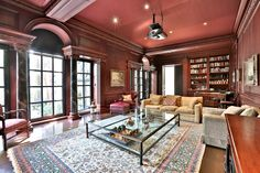 This billionaire's urban villa was in a #Toronto alley. 7 Sherwood Lane - Library Seating Area