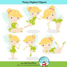 Fairy Digital Clipart/ Cute Fairy clip art for by ClipArtopia, $5.00