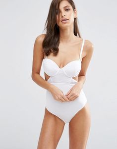 Image 1 of ASOS Mesh Cutout Underwire Body