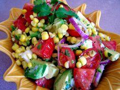 Avocado, Tomato & Corn Salad/Salsa MN Farm week