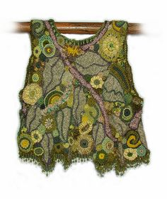 OOAK freeform crochet vest - Crystal Grove - back view | Flickr - Photo Sharing!