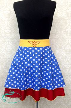 Wonder Woman Inspired Ruffled Apron on Etsy, $33.00