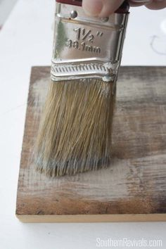 Faux Driftwood Restoration Hardware Inspired Paint Finish Tutorial - Southern Revivals