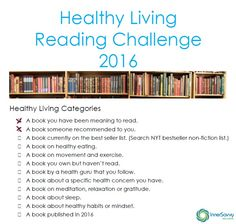 Healthy Living Reading Challenge February | Inner Savvy Wellness