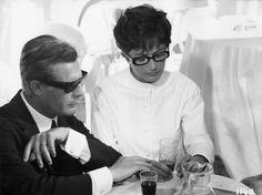 Marcello Mastroianni and Anouk Aimee in Otto e mezzo (Federico Fellini, 1963)