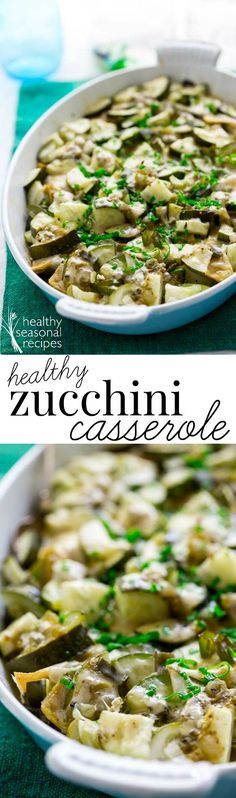 Have fun improvising with this healthy zucchini casserole recipe. It's an easy gluten-free and low-carb recipe to bring to a potluck! Side Dish Recipes, Low Carb Recipes, Dinner Recipes, Cooking Recipes, Healthy Recipes, Side Dishes, Meal Recipes, Free Recipes, Zucchini Casserole