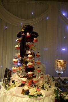 Aglow Weddings & Events.  Our Lauren Illuminated Cupcake Stand  www.AglowWeddings.com