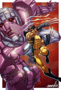 Wolverine artwork by Emmshin Hq Marvel, Marvel Comics Art, Marvel Heroes, Wolverine Art, Logan Wolverine, Wolverine Movie, Comic Book Characters, Comic Books Art, Comic Art