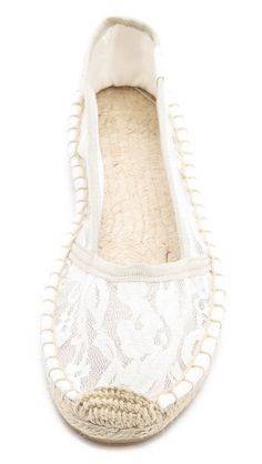 Lace espadrilles -- lovely summer shoes!