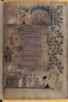 Pretty medieval manuscript of the day is a calendar page for January from the Hours of Yolande of Flanders, a manuscript in the collection of the British Library.