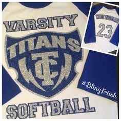 High school softball support #blingfetish
