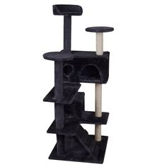Walcut 51' Cat Tree Condo Furniture Scratcher Post Play Toy Pet House Kitten Tower Navy Blue => Awesome cat product. Click the image : Cat Tree