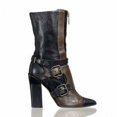 Reed Krakoff Monolith Mid-Calf Boot ($1,295) ❤ liked on Polyvore