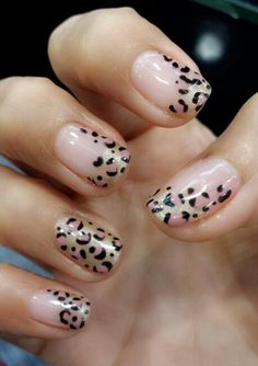 Leopard Print Nails .... not usually a fan of leopard print... but these are amazing :)