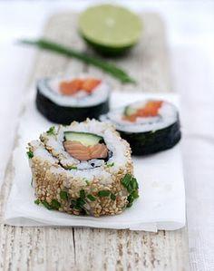 [kjøkkentjeneste]: Maki sushi - en trinn-for-trinn-beskrivelse av en amatør Sushi Co, Great Recipes, Favorite Recipes, Food Obsession, Salmon Burgers, Foodies, Nom Nom, Clean Eating, Yummy Food