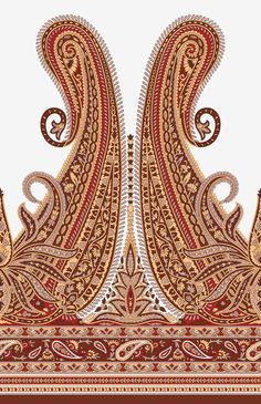 Find Seamless Paisley Indian motif stock illustrations and royalty free photos in HD. Paisley Tattoo Design, Paisley Art, Paisley Pattern, Textile Pattern Design, Textile Patterns, Indiana, Border Embroidery Designs, Indian Prints, India Colors