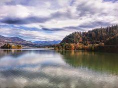 Colibita lake in late October