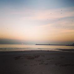 Sunset @ Praia de Matosinhos.