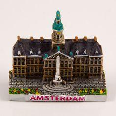 Resin Fridge Magnet: Netherlands. Amsterdam. Dam Square (Magnet and Figurine)