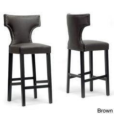 Hafley Beige Modern Bar Stools (Set of 2) | Overstock™ Shopping - Great Deals on Baxton Studio Bar Stools