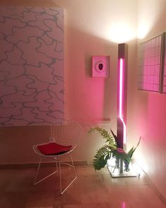 25 Awesome Ideas To Use Neon Lights For Home Decor is part of Neon bedroom - Neon lights are conventional for events however what if we use some for residence decor Neon provides enjoyable to plain interiors, it brings a Neon Lights Bedroom, Neon Bedroom, Bedroom Lighting, Bedroom Decor, Wall Decor, Neon Licht, Interior Decorating, Interior Design, Aesthetic Bedroom
