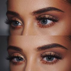 Prom Makeup Rose gold eyeshadow fit for a tanned makeup look ღ Stylish outfit ideas for wo. Makeup Goals, Makeup Inspo, Makeup Tips, Makeup Ideas, Makeup Style, Makeup Tutorials, Makeup Hacks, Makeup Geek, Retro Makeup