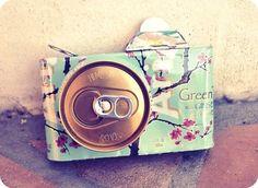 Camera gemaakt van een Arizona blikje! Geniaal!