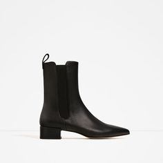ZARA - WOMAN - STRETCH LEATHER ANKLE BOOTS, $159