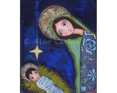 Nativity Star Reproduction from Painting by FLOR by FlorLarios, $15.00