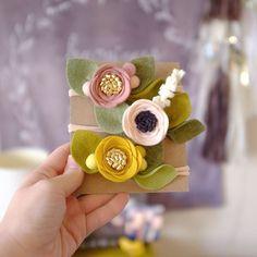 http://fancyfreefinery.etsy.com || felt flower headbands by Fancy Free Finery