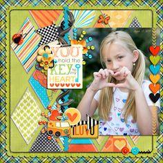 #papercraft #scrapbook #layout Key to my Heart - Scrapbook.com      Wendy Schultz onto Scrapbook Art.