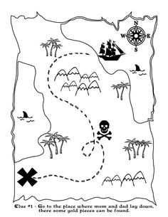 Free Printable Pirate Map - Or make your own treasure maps with your little ones! They can just draw squiggles!