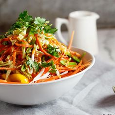 Easy, quick, healthy and absolutely delicious. This shredded Thai chicken salad makes the perfect lunch.