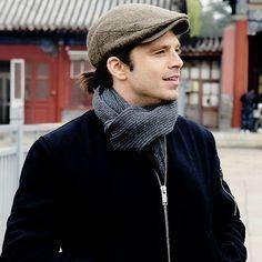 Sebastian Stan visiting the Forbidden City in Beijing on November 18, 2015.